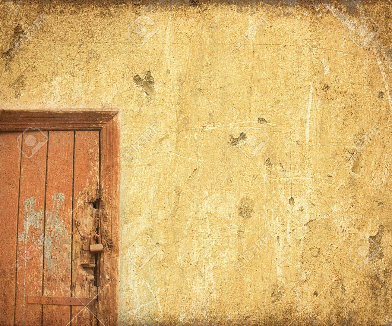 grunge door background with space for text Stock Photo - 371431