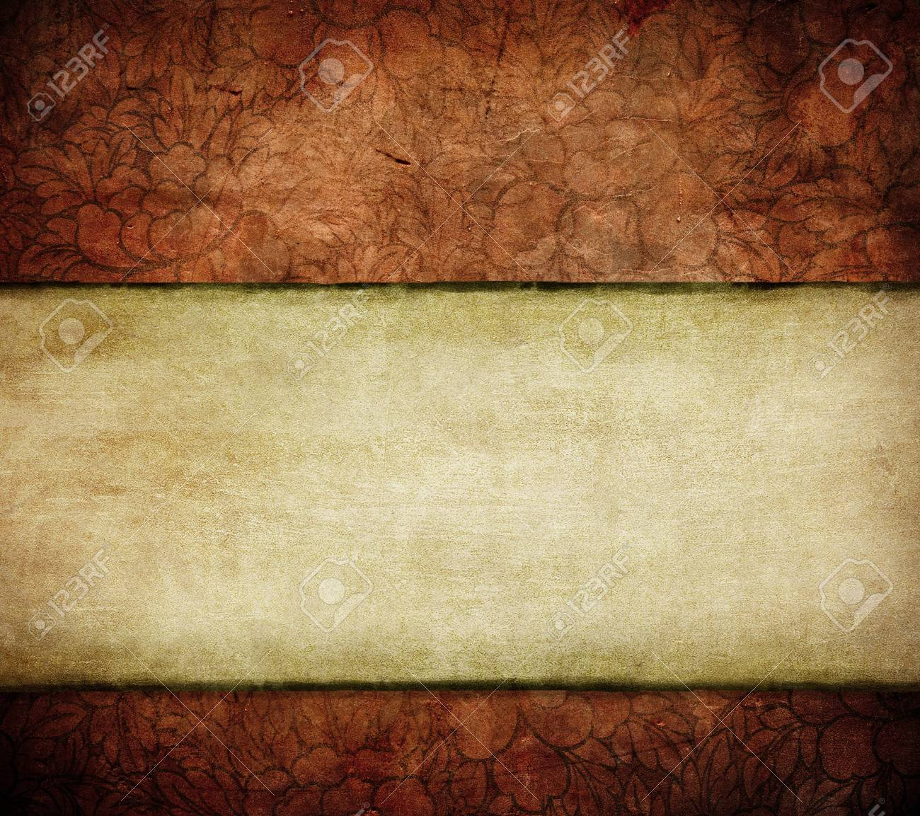 grunge floral background with space for text or image Stock Photo - 4108156