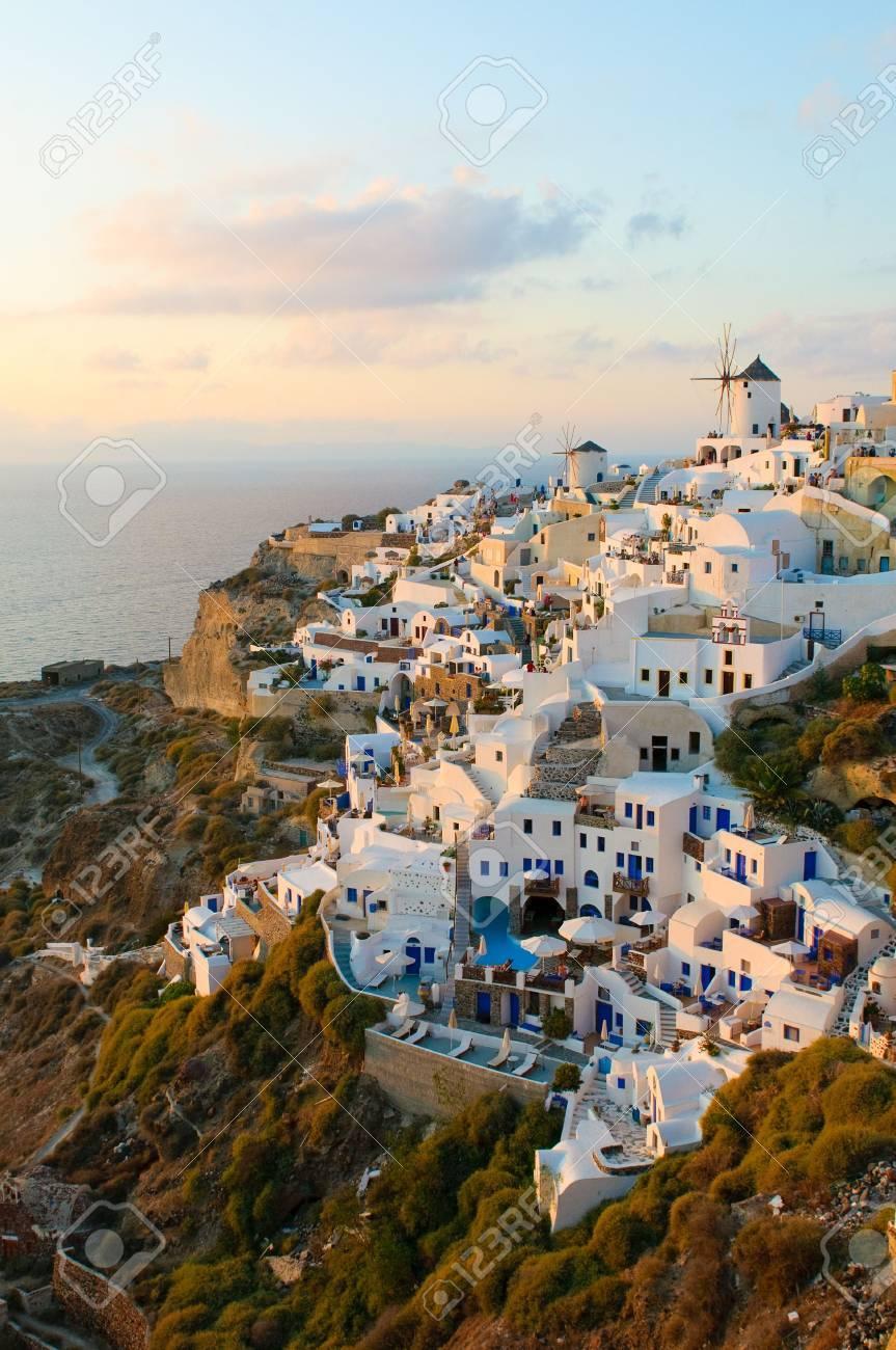 Oia village at Santorini island, Greece Stock Photo - 5965859