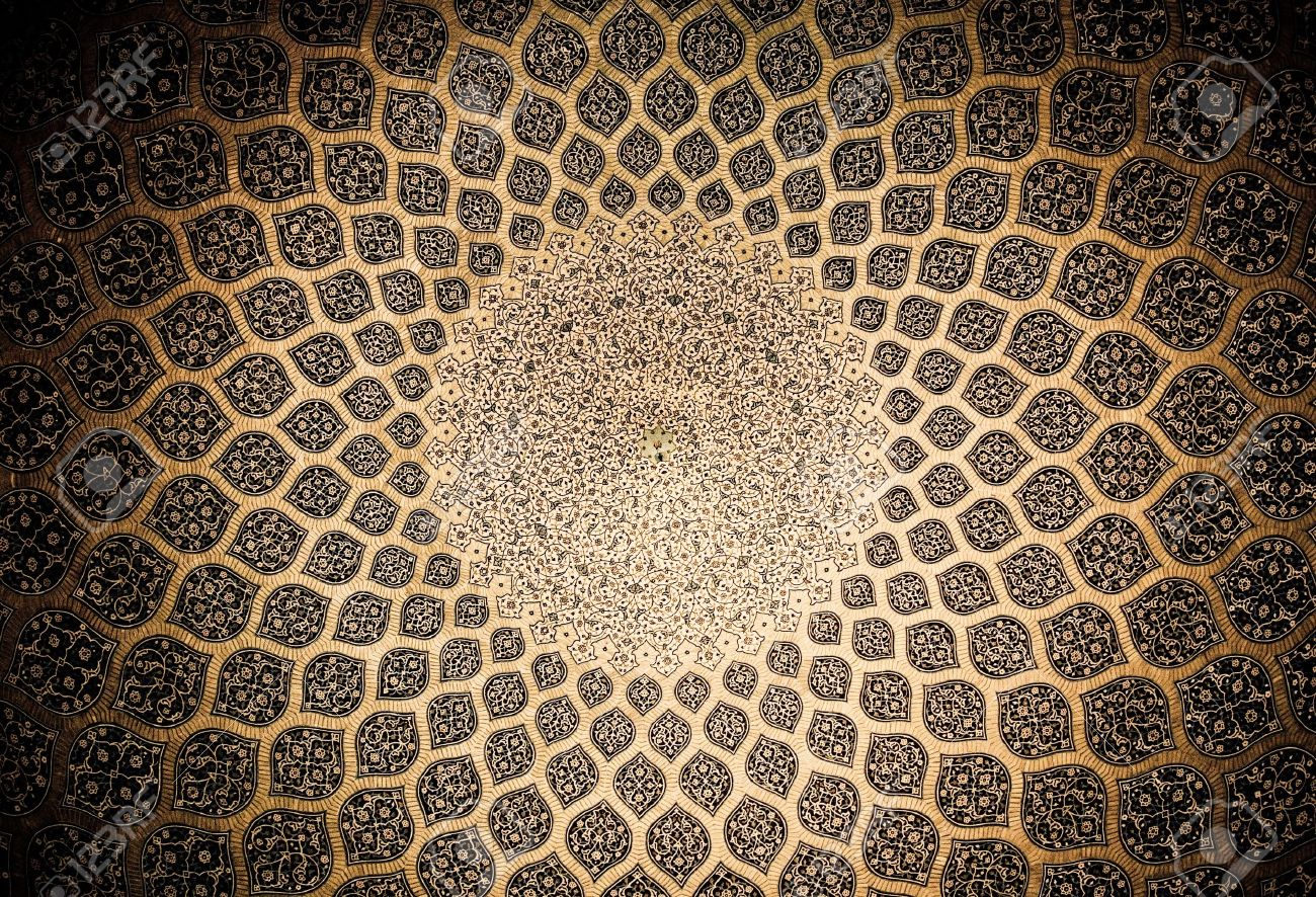 Dome of the mosque, oriental ornaments from Isfahan, Iran Stock Photo - 6446919