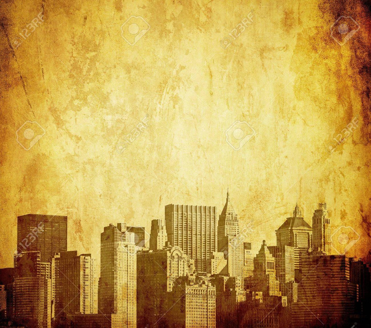 grunge image of new york skyline Stock Photo - 9682159
