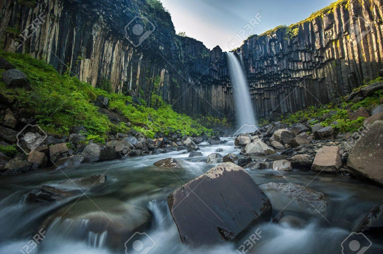 Svartifoss, Black Waterfall, Iceland - 21691654