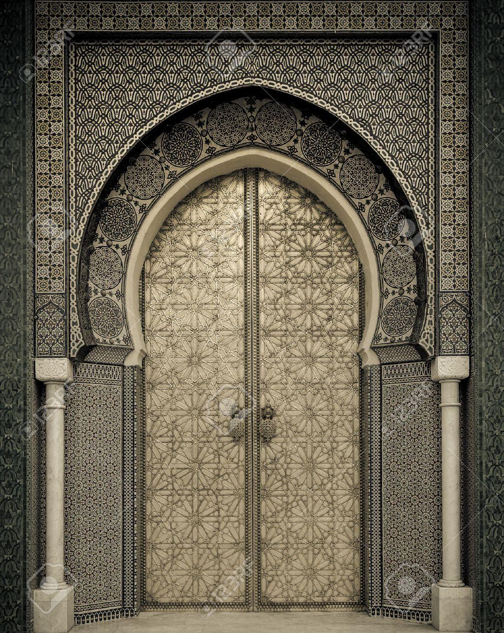 puertas antiguas marruecos foto de archivo