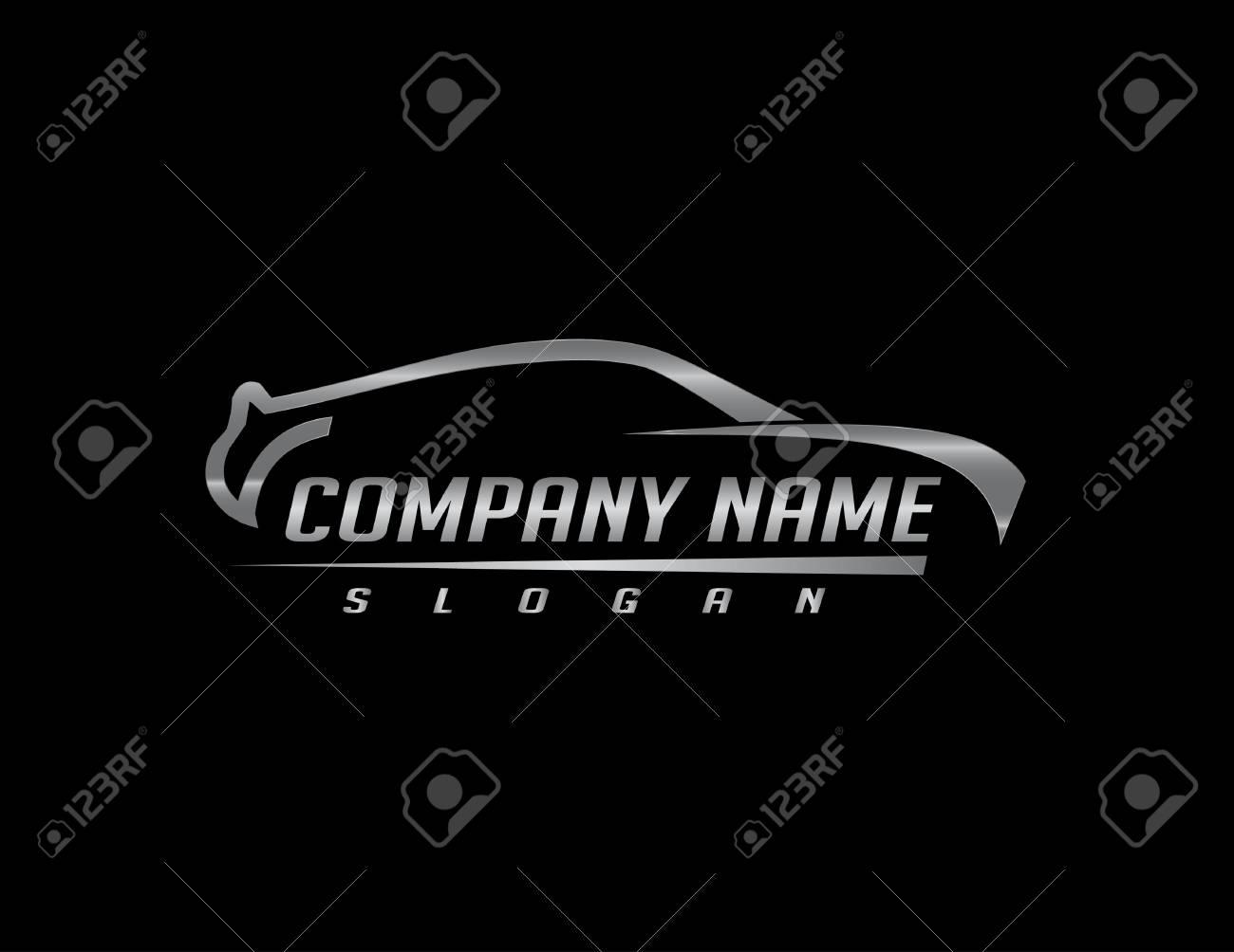 Car logo 2 black background - 80306235