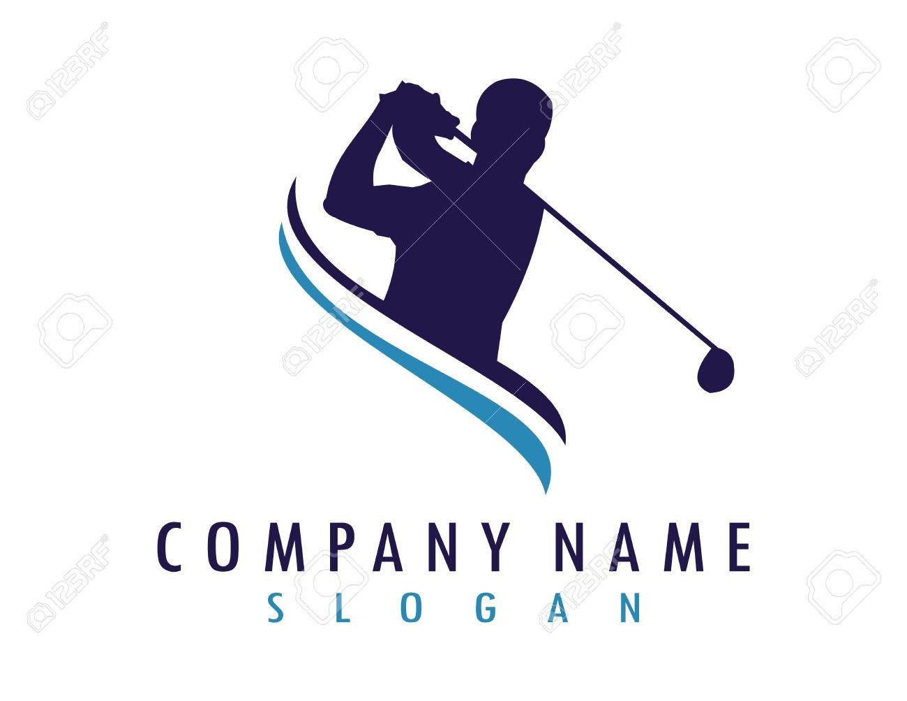 Golfer logo - 81313720