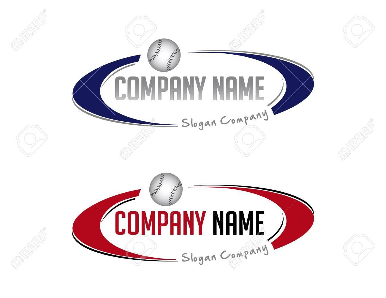 Oval baseball logo - 82742203
