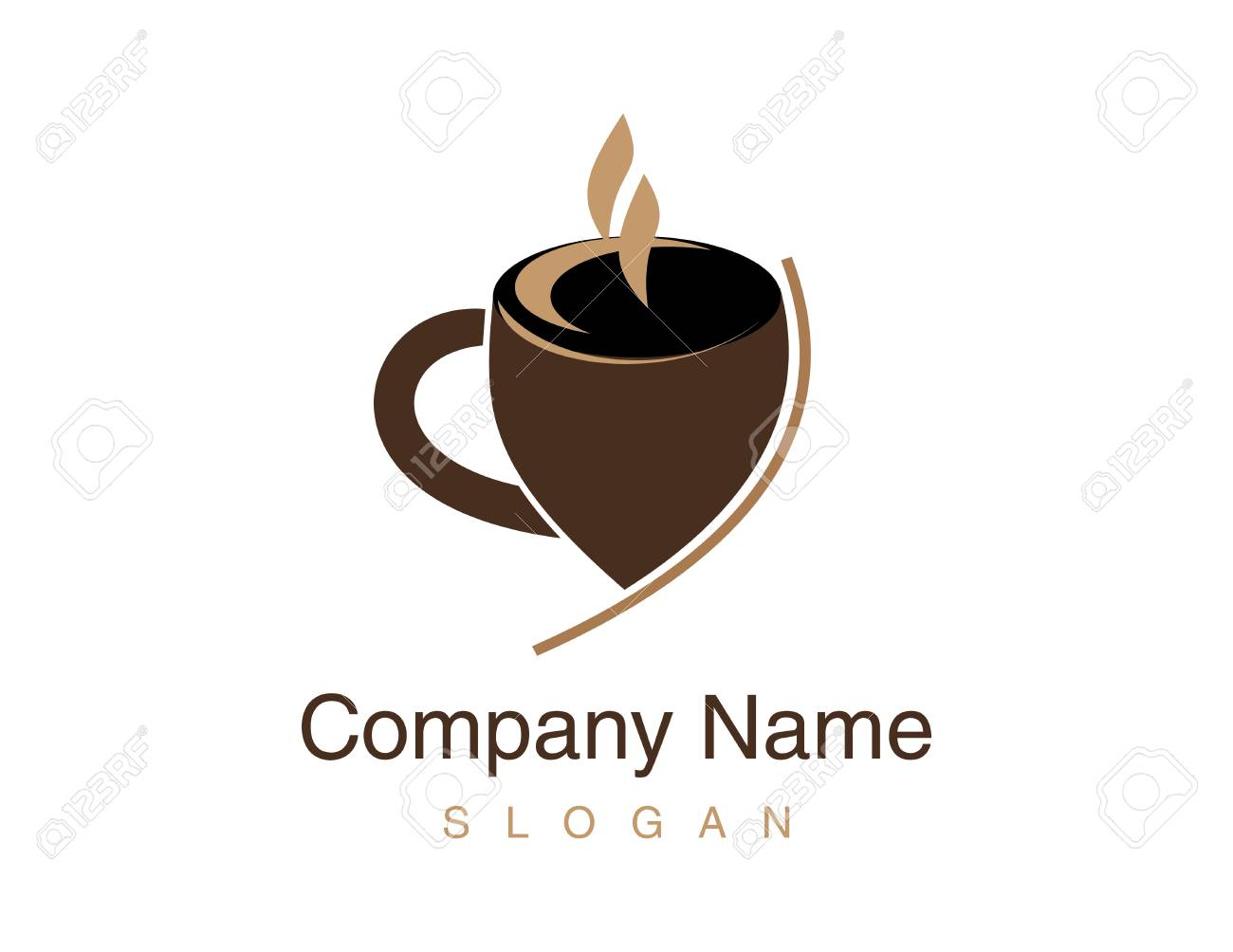 Cup coffee illustration. - 93055241