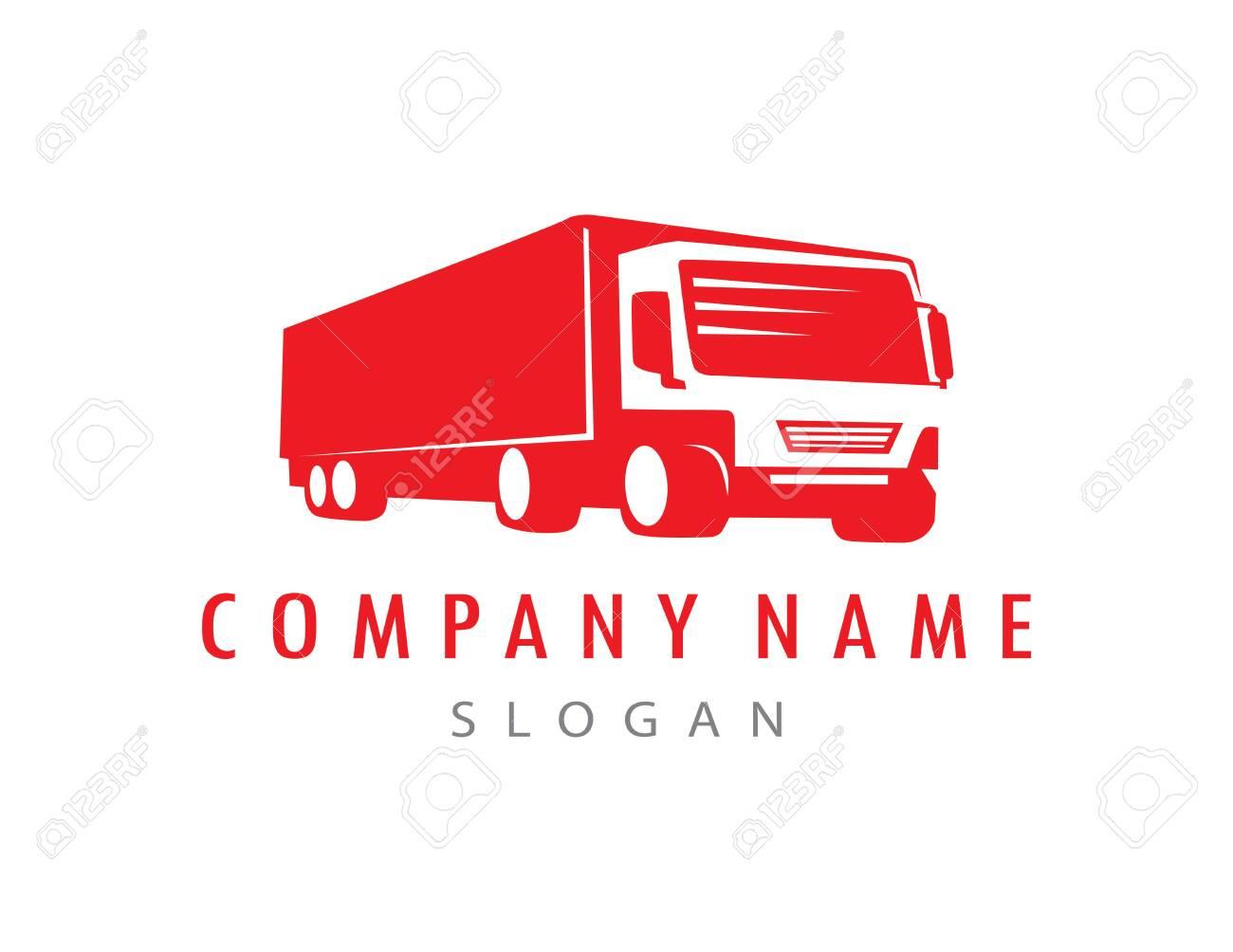 red truck logo - 133230838