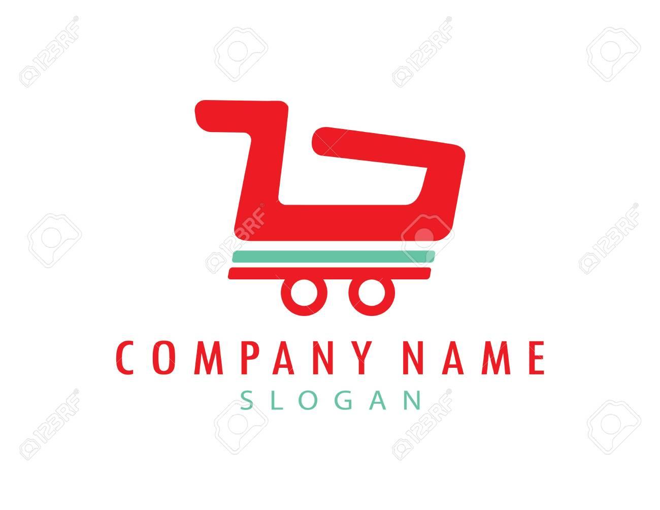Shopping car logotype - 140183319