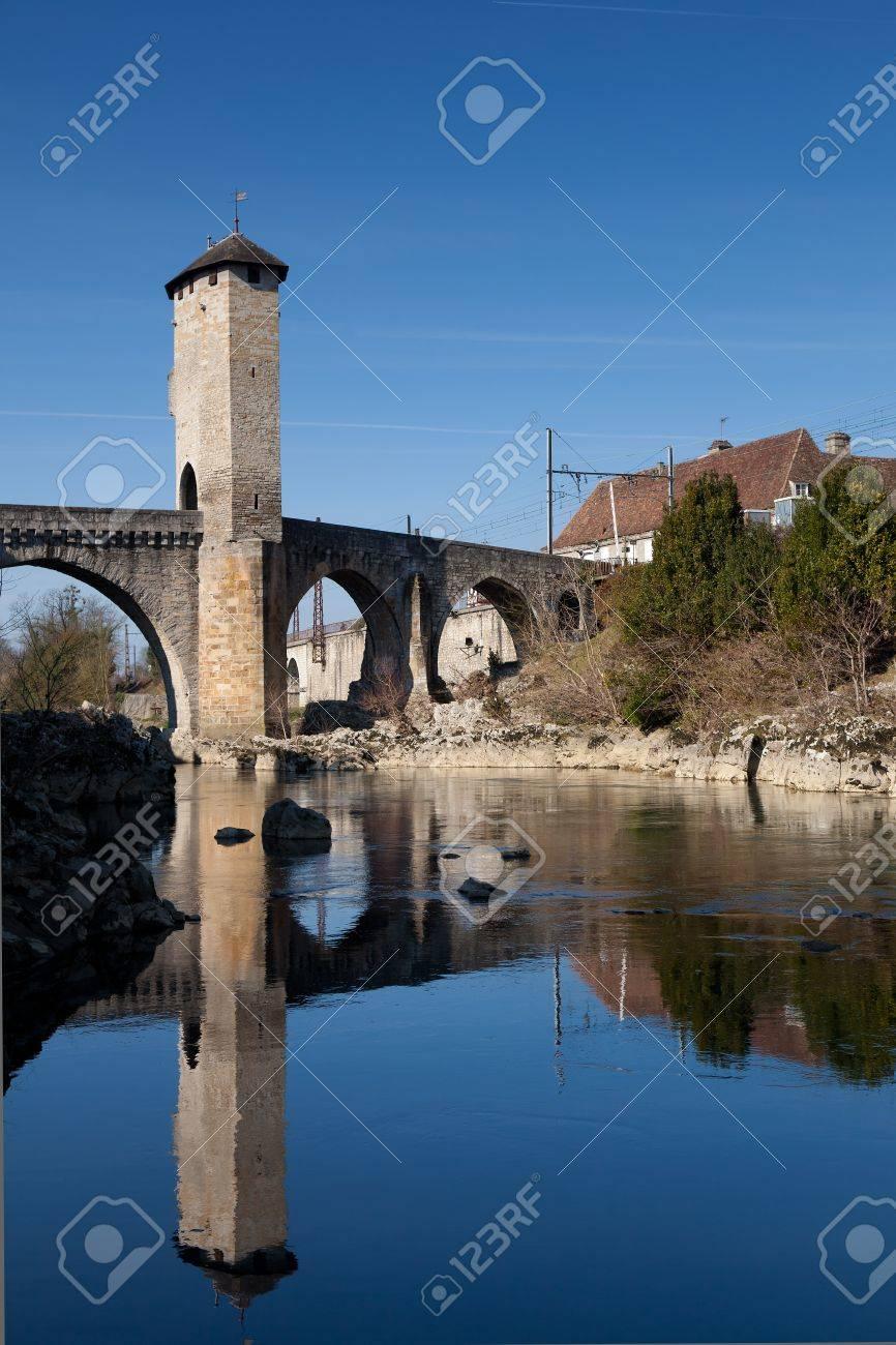 River Gave de Pau, Orthez, Pyrenees Atlantiques, Aquitaine, France Stock Photo - 12744549