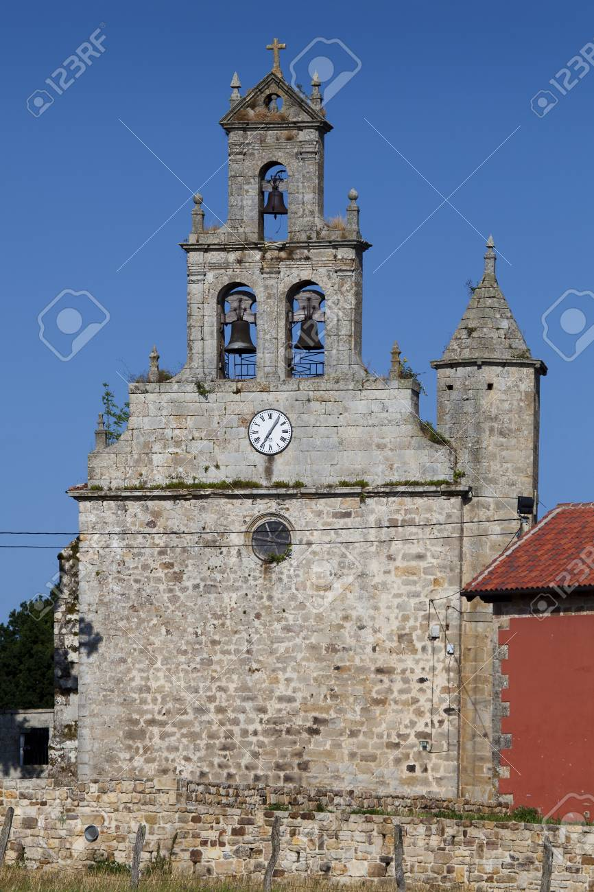 Church of Orzales, Campoo de Yuso, Cantabria, Spain Stock Photo - 14986857