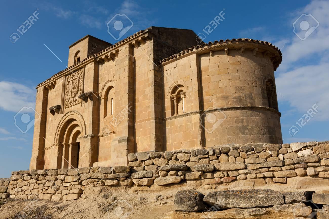 Church of Santa Maria de la Piscina, Peciña, La Sonsierra, La Rioja, Spain Stock Photo - 16545262