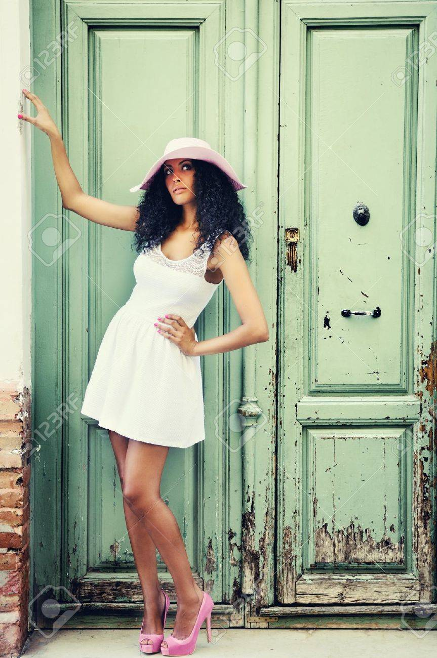 Portrait of a young black woman, model of fashion Stock Photo - 16653618