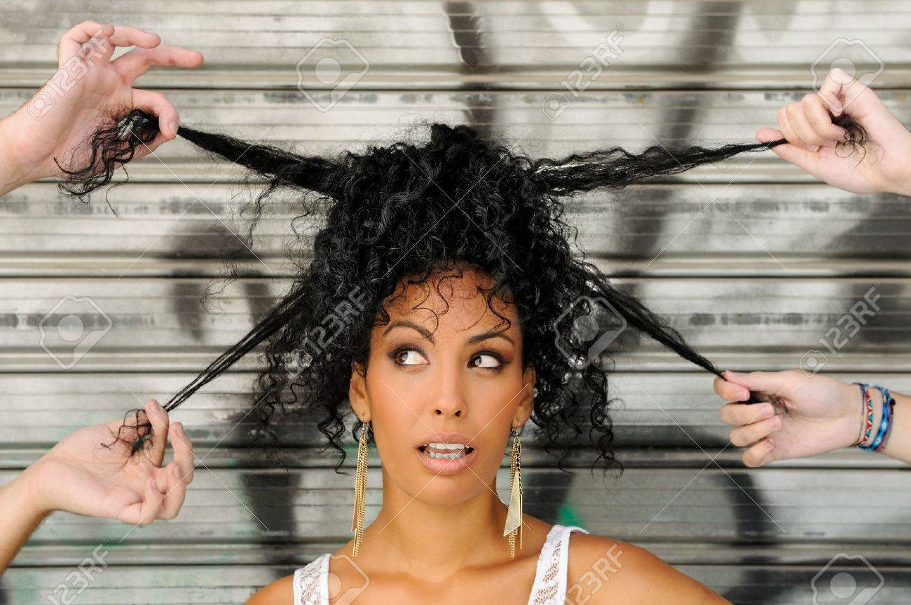 Cool Portrait Of A Young Black Woman Afro Hairstyle In Urban Hairstyle Inspiration Daily Dogsangcom