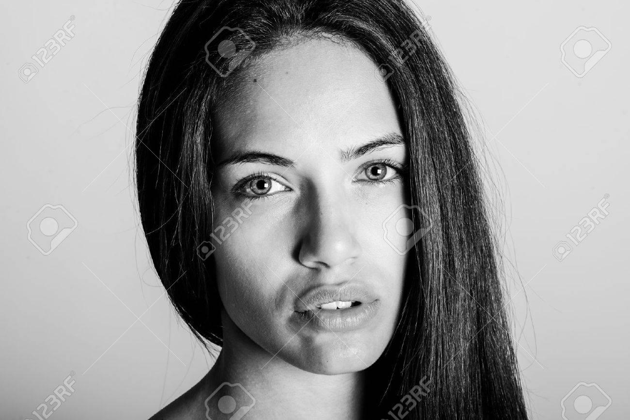 Beautiful black girl without makeup