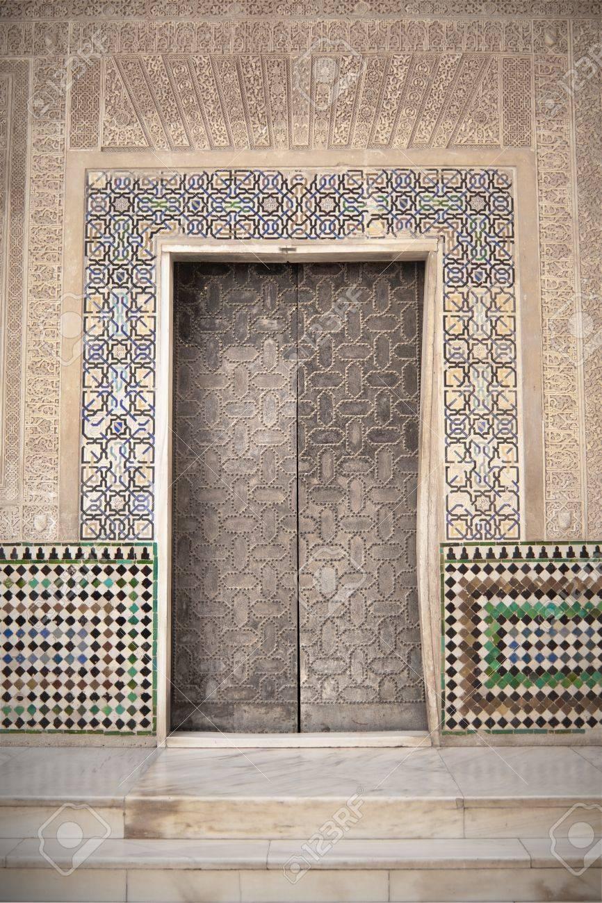 Arab door in the Alhambra in Grandda, Spain Stock Photo - 13744401