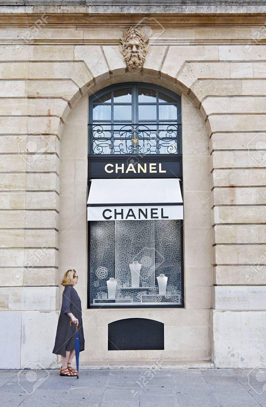 Famous Chanel shop in Vendome Square in Paris, France Stock Photo - 13775680