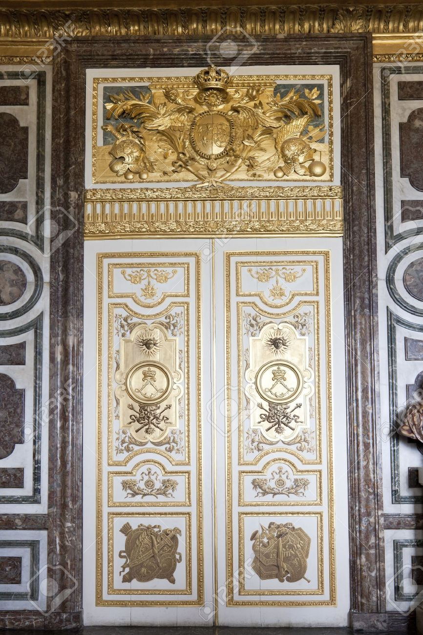 Door In The Interior Of The Versailles Palace In Paris France Stock Photo - 13775691 & Versailles French Doors \u0026 Doors At Versailles Palace France