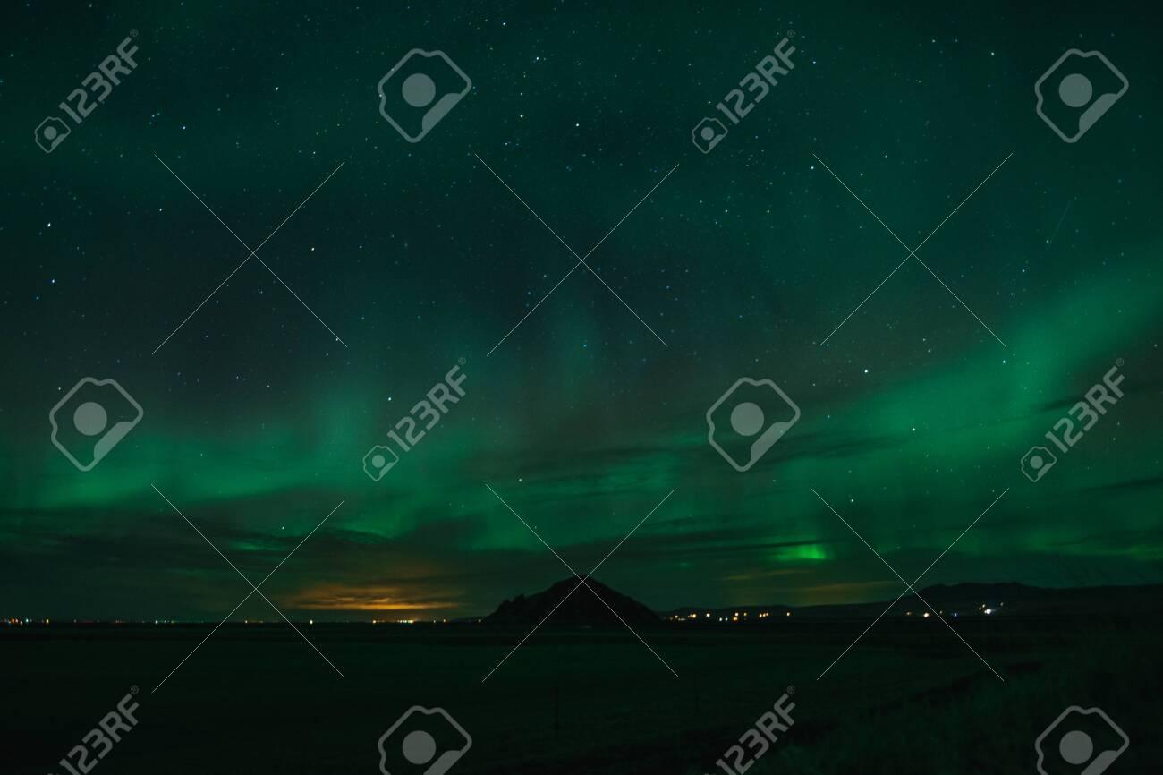 Northern Lights on Cold Icelandic Nights - 122349958
