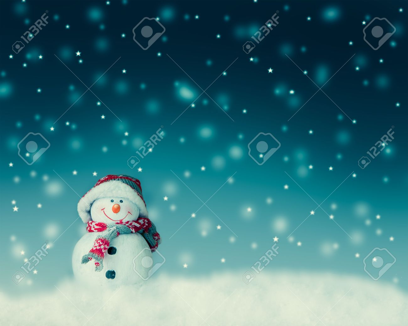 snowman for card or background - 46287279