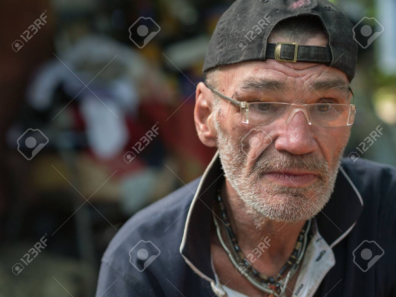 sad homeless man stock photo, picture and royalty free image. image