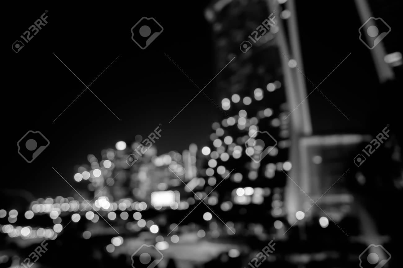 Blurry City Lights Photography. City Lights Blurred Bokeh Background ...