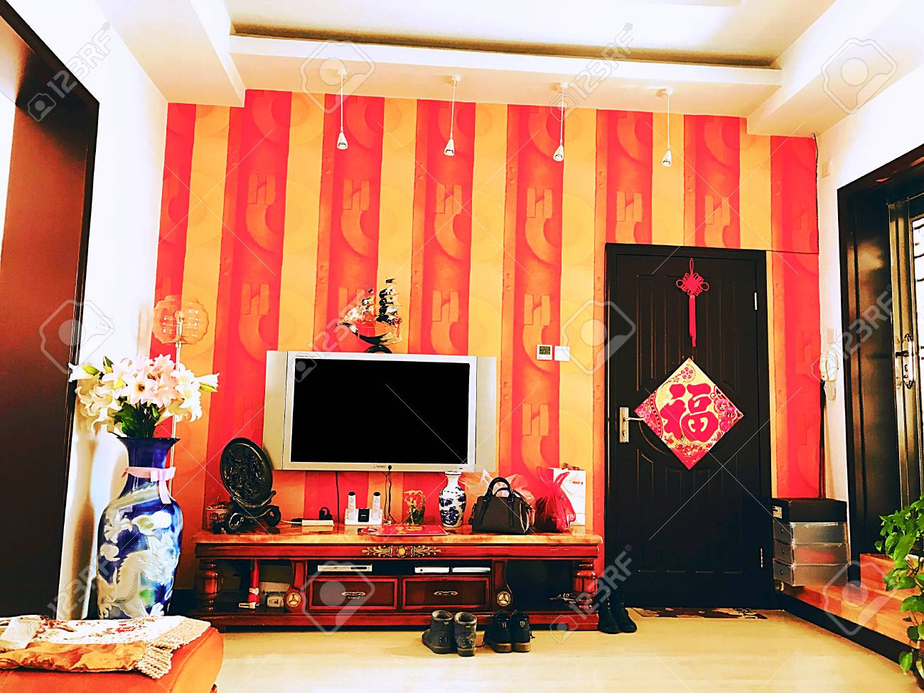 Chinese New Year Home Decoration Stock Photo