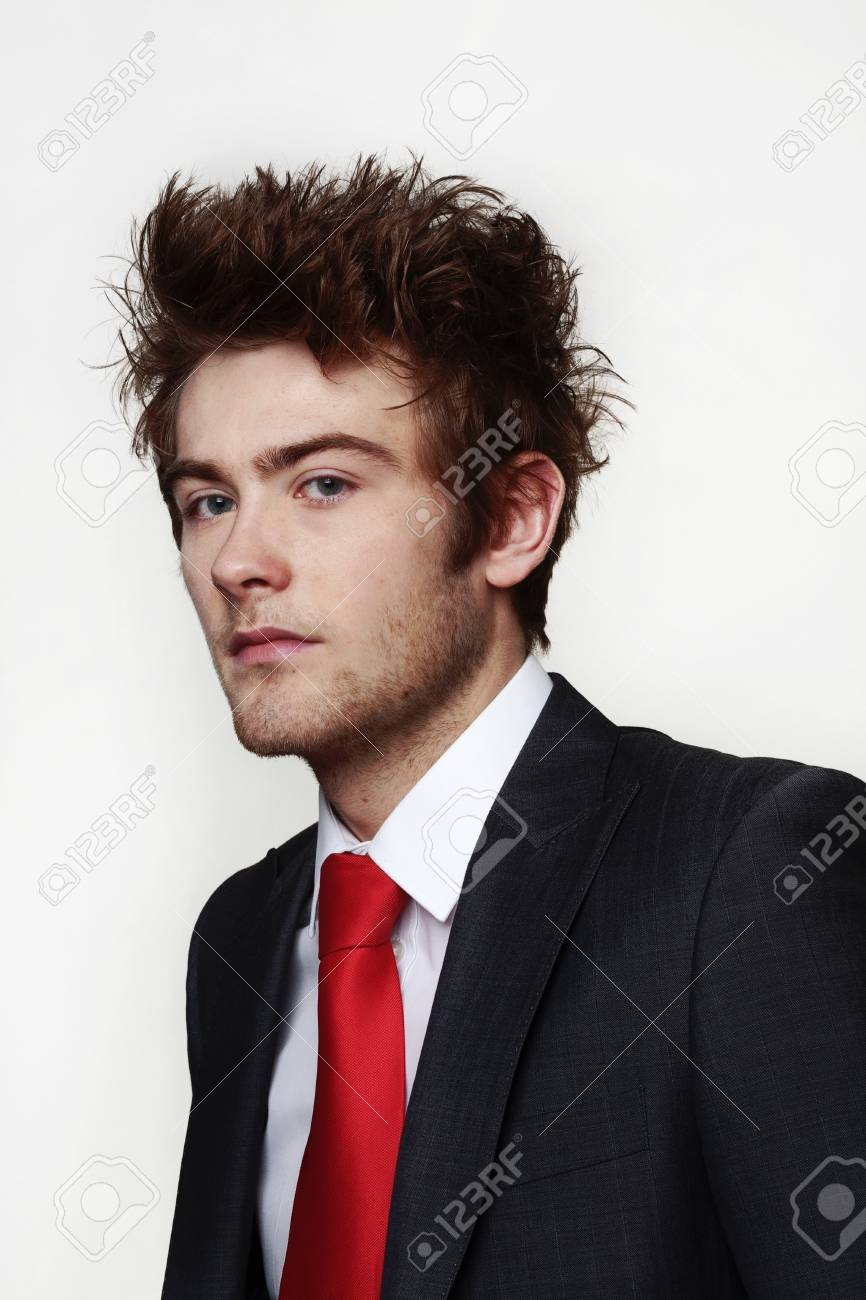 portrait of young businessman looking into camera Stock Photo - 12503286
