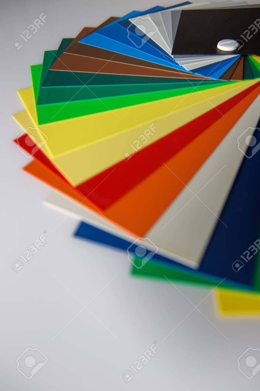 Still Life Image Of A Color Swatch Book Shot In The Studio On ...