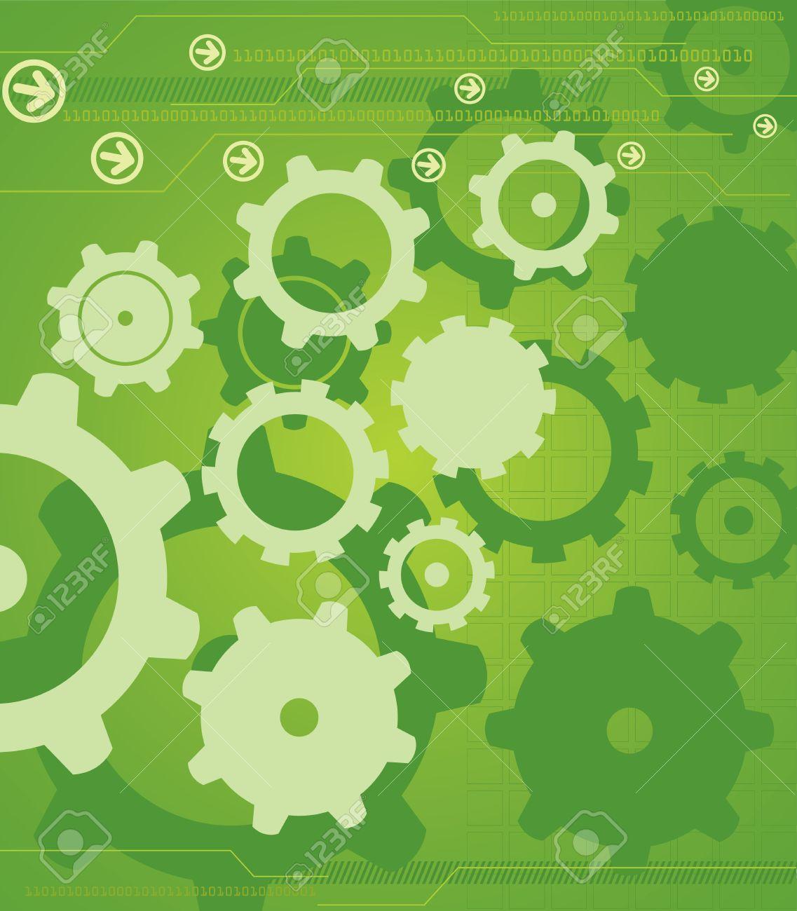 HighTech Industrial Background Stock Vector - 4653783