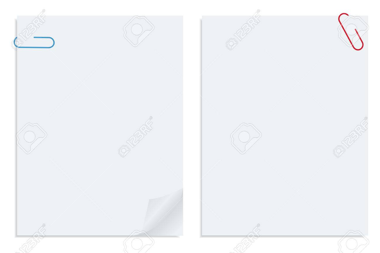 Two sheets of white vector paper Stock Vector - 4826111
