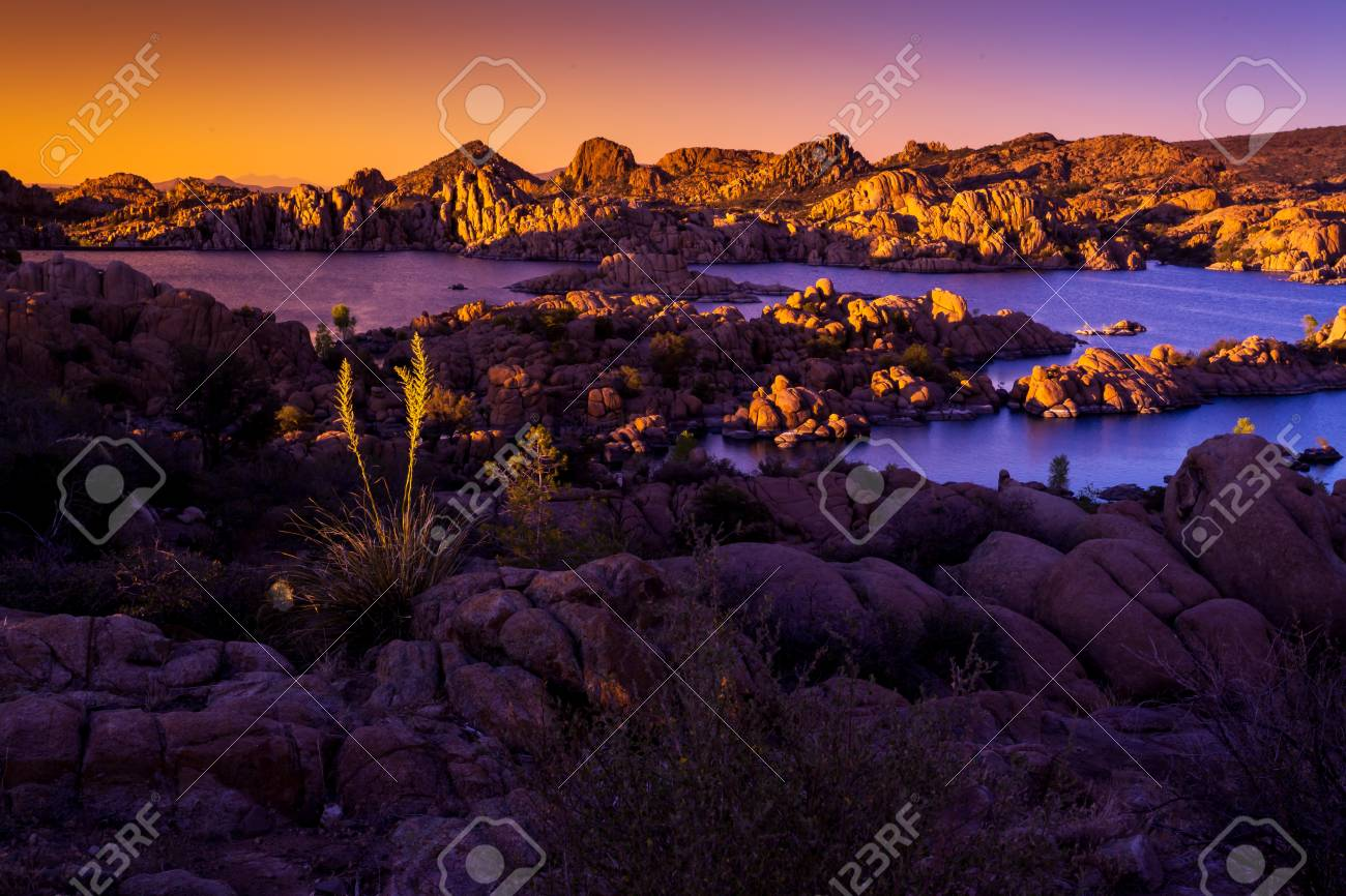 Watson Lake, Sunset, Rock Formations Recreation Prescott - 80852577