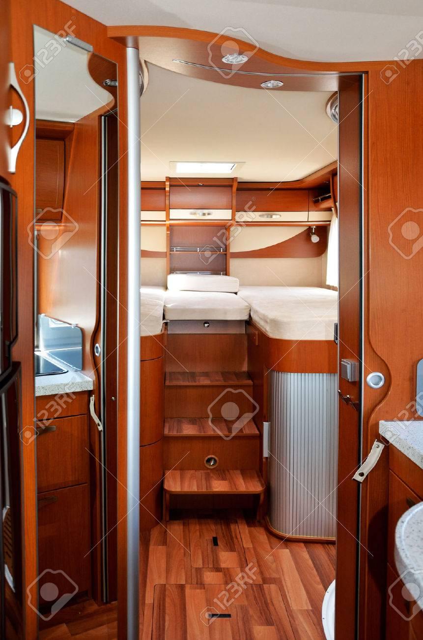 Camper RV, motorhome, caravan interior, vertical image - 25869309