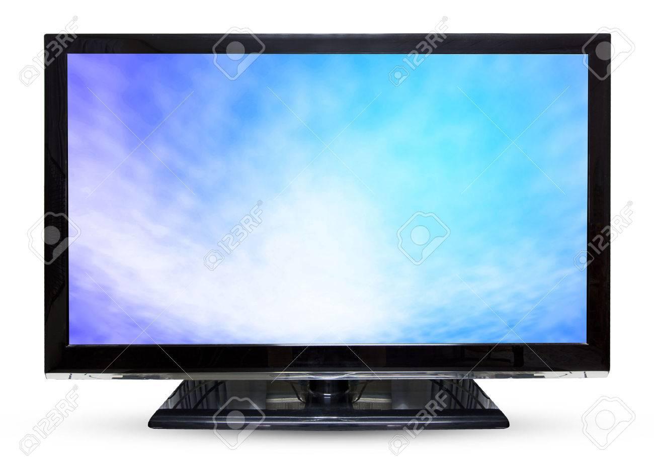 Fernseher Hintergrund fernseher oder monitor himmel landschaft isoliert auf weißem