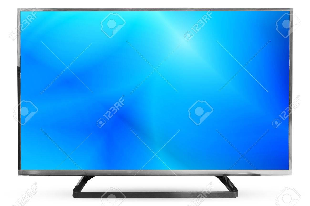 Fernsehen Himmel Oder Monitor Landschaft Auf Weißem Hintergrund: Weg ...