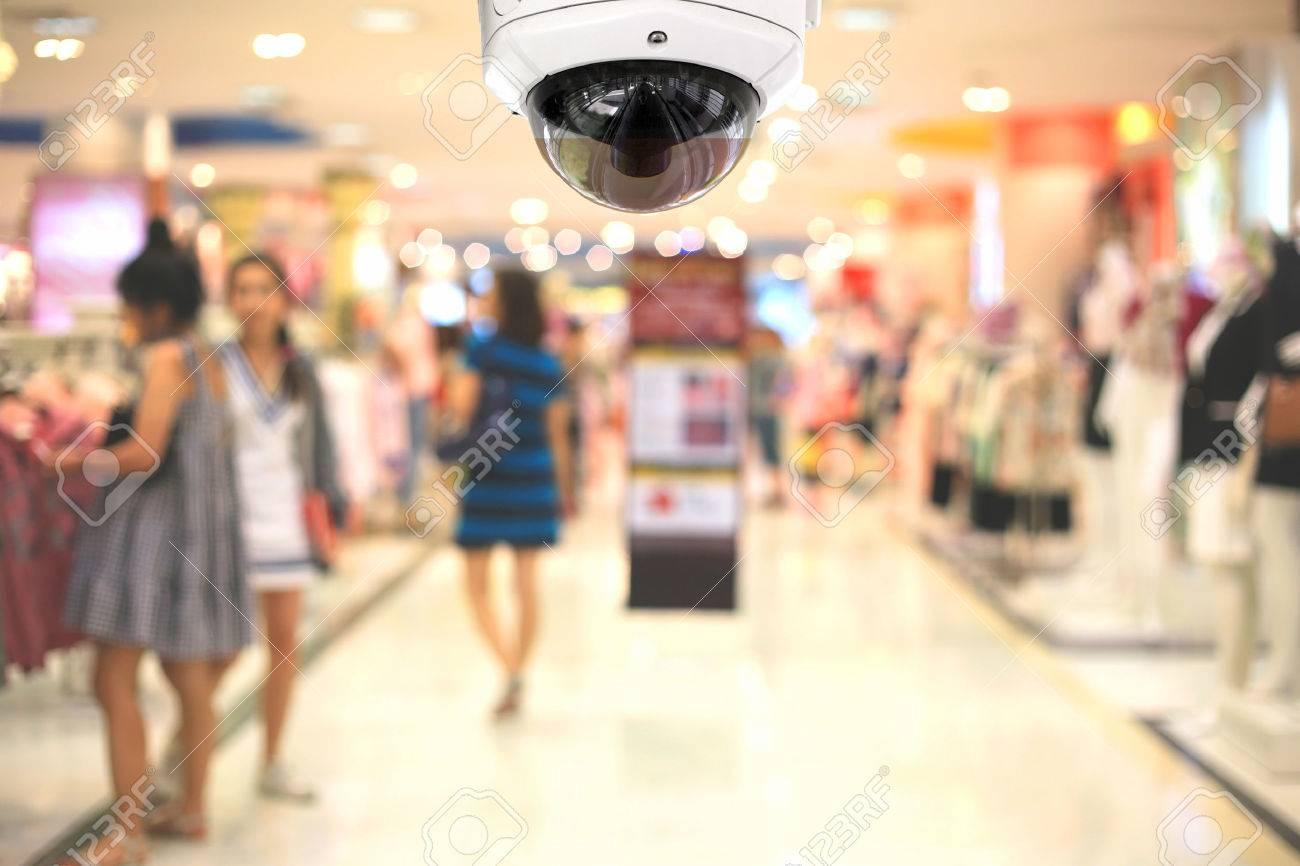 CCTV camera spy on the shopping mall. - 51551649