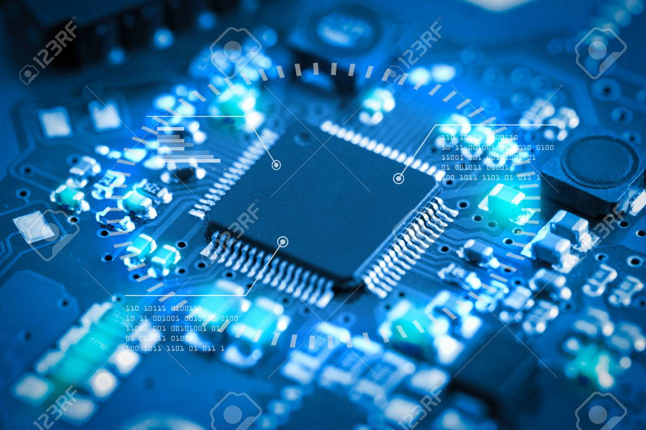 Close Up Electronic Circuit Board Technology Style Concept Stock Closeup Of Royalty Free Photography Photo 71125033