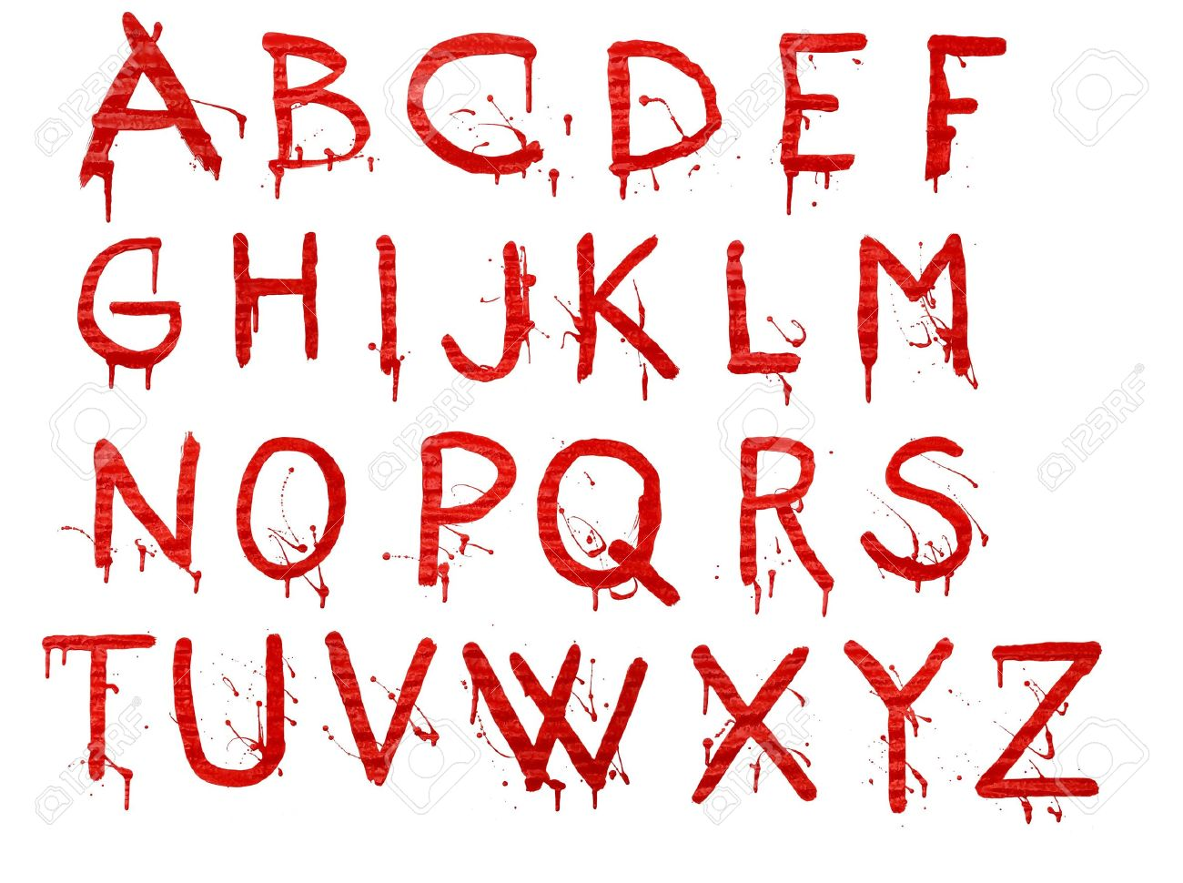 Letters dripping with blood on white background Stock Photo - 5888049