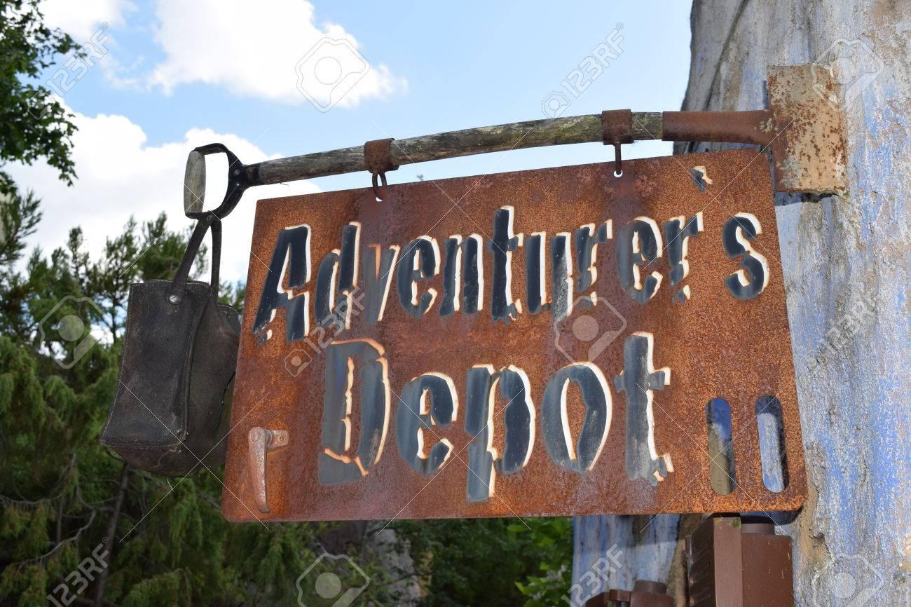 Adventurers Depot Letzte Geschäft Vor Der Wüste Lizenzfreie Fotos