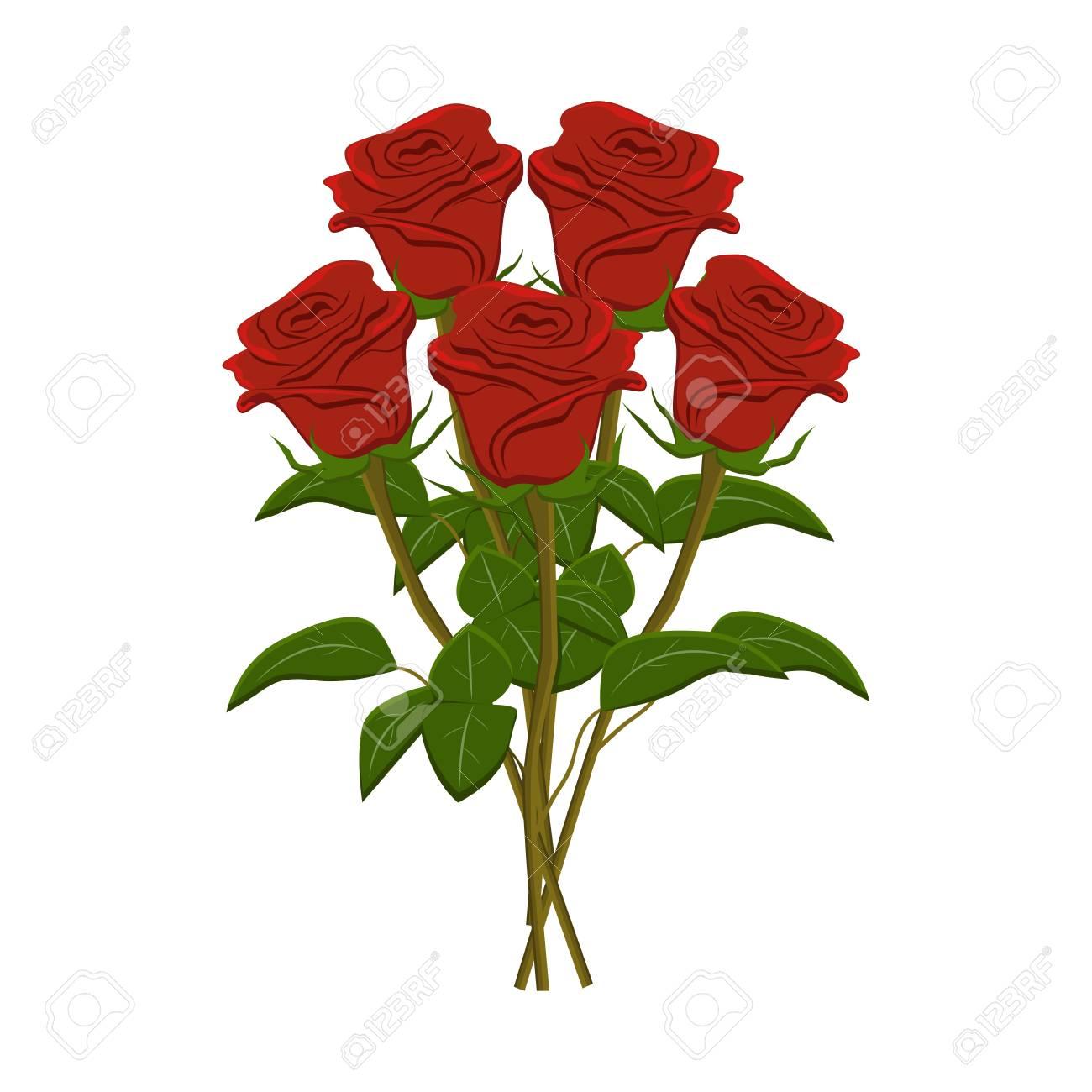 clip art bunch of red roses vector illustration royalty free rh 123rf com rose vectoriel gratuit rose vector png