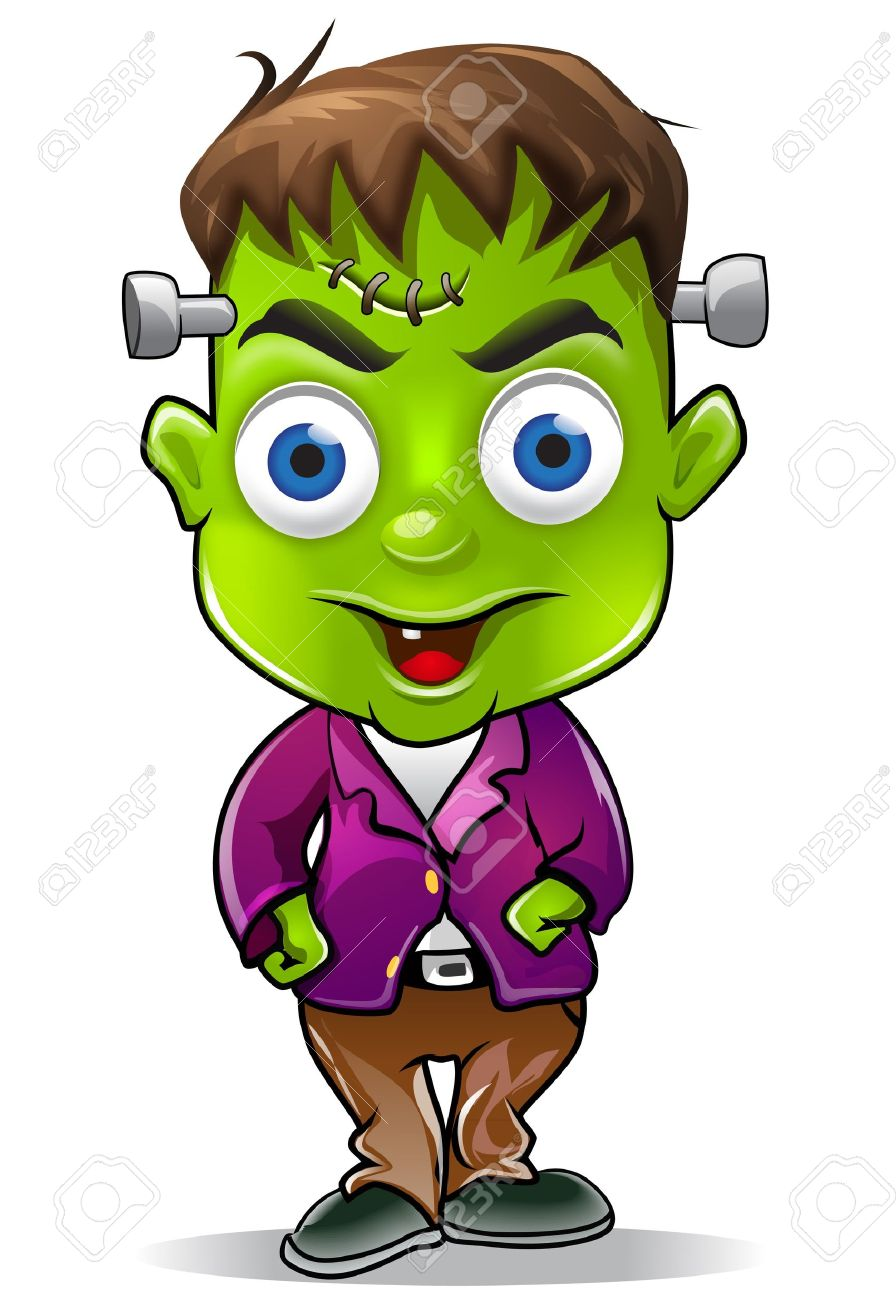 Cute Halloween Frankenstein Character Graphic