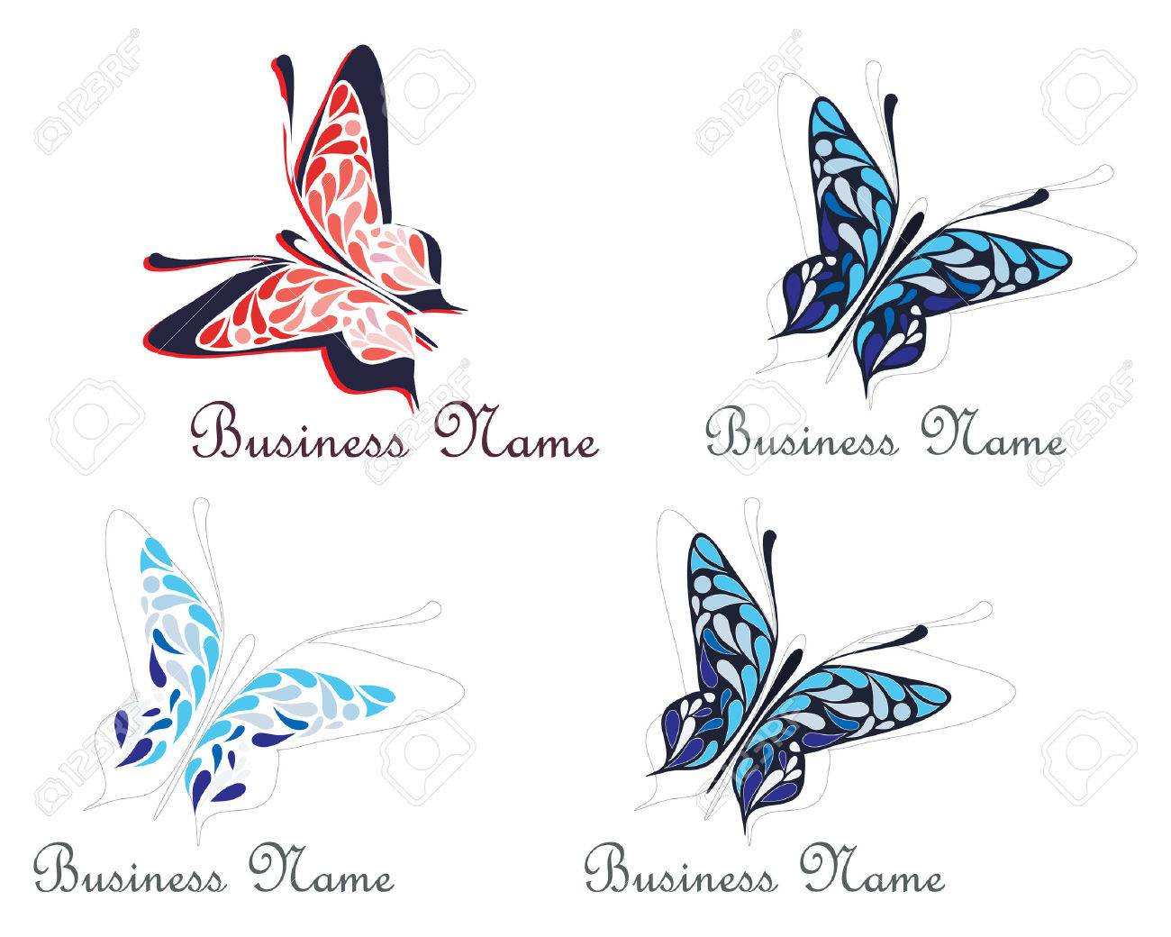 Flying butterfly business name sign vector illustration symbol flying butterfly business name sign vector illustration symbol place for company name biocorpaavc Images