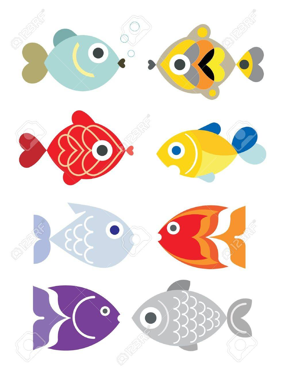 ornamental aquarium fishes royalty free cliparts vectors and