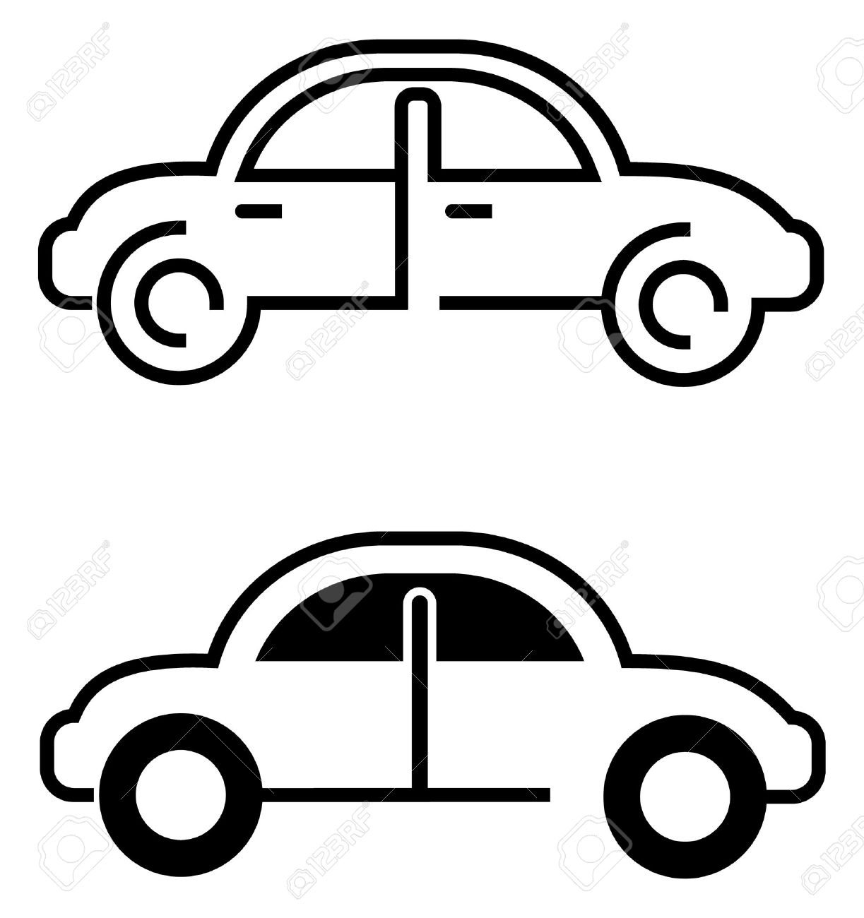 car vector icon on white isolated outline design elements rh 123rf com car vector art car vector top