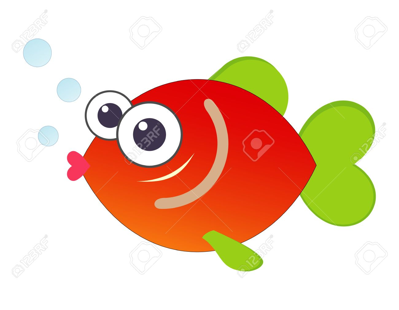 Funny Cartoon Fish - Color Illustration. Royalty Free Cliparts ...