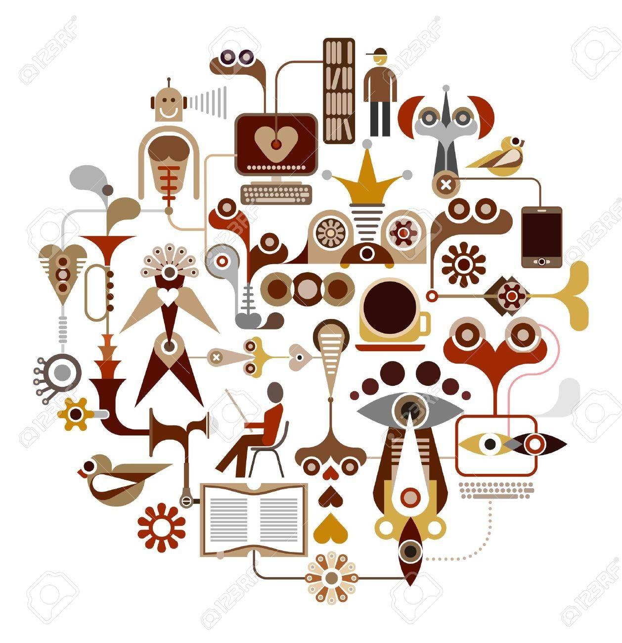 Social Media Network Stock Vector - 13517334