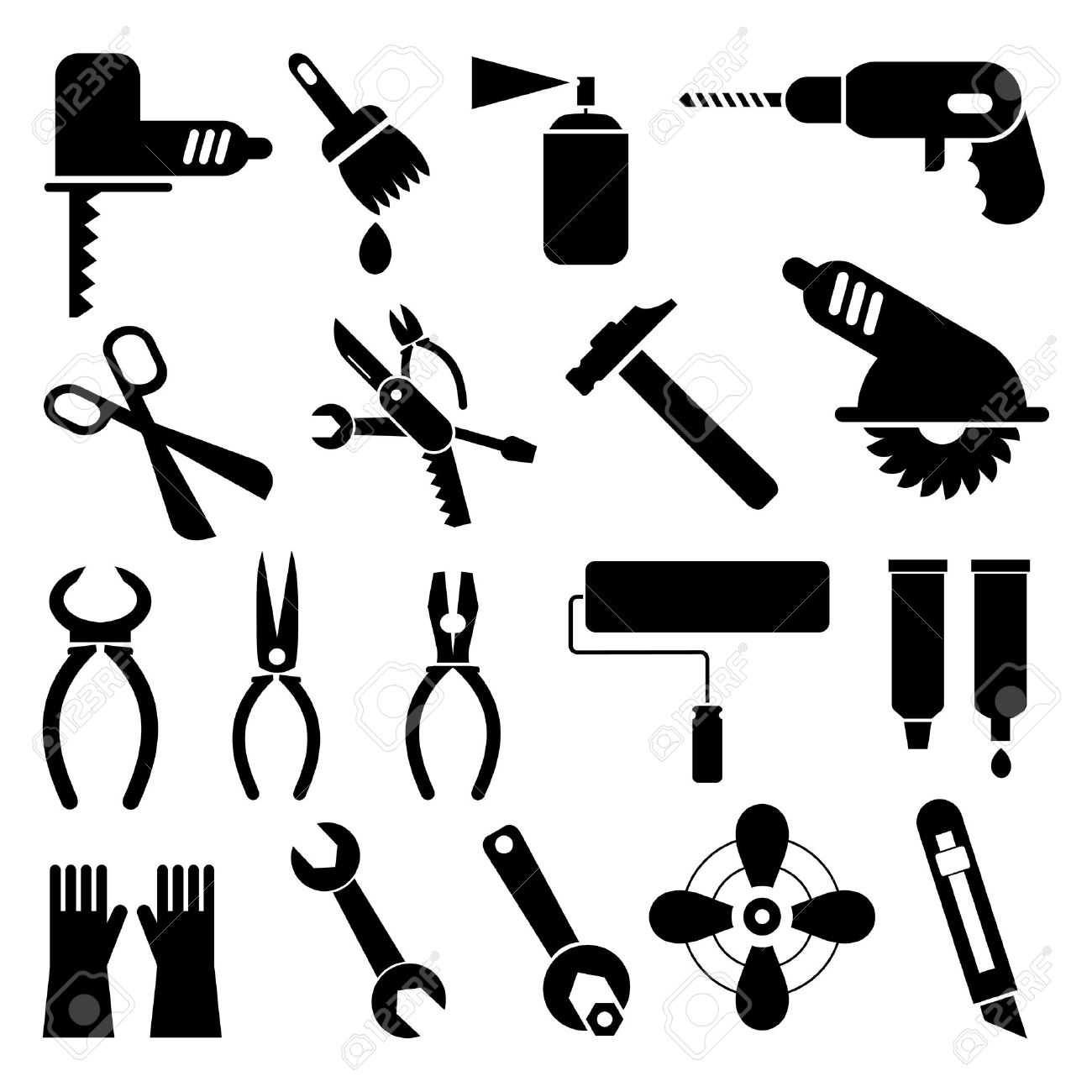 Construction Tools Royalty Free Cliparts, Vectors, And Stock ...