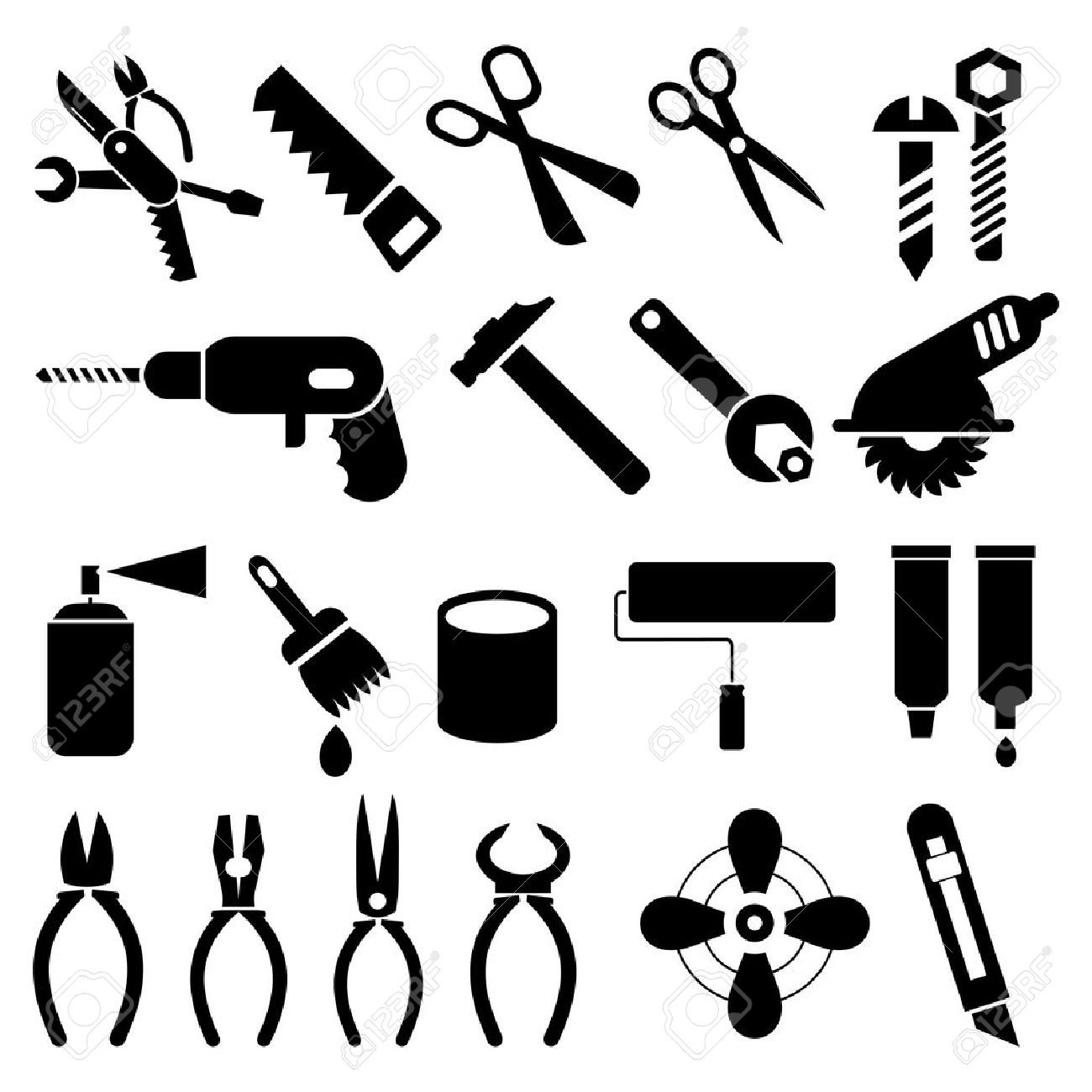 Pictogram people with tools vector by alexghidan89 - Image ...