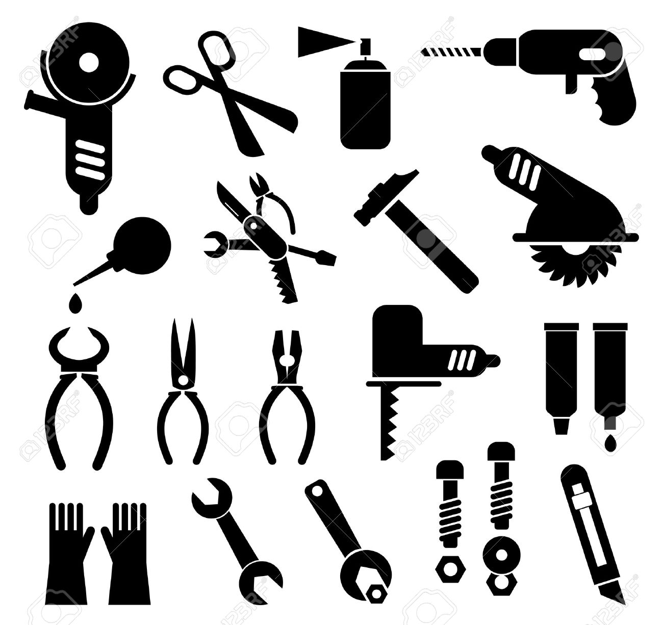 Vector Tool Pictograms Stock Vector - Image: 39269192