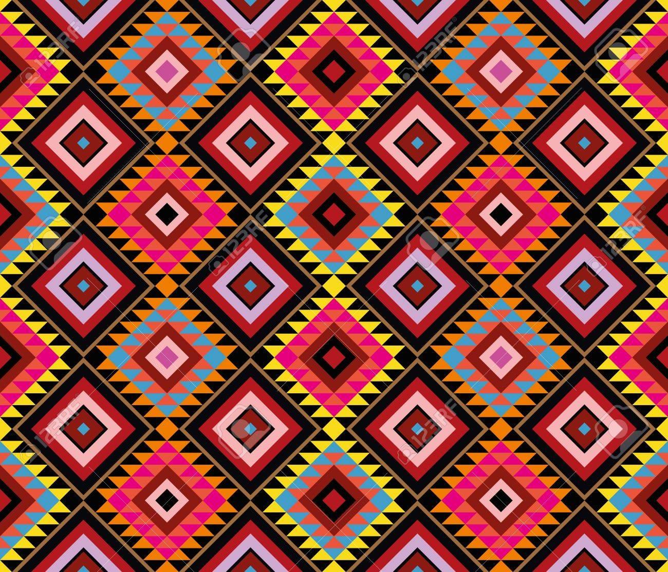 アメリカのネイティブ パターン ベクトルのシームレスな壁紙 のイラスト素材 ベクタ Image